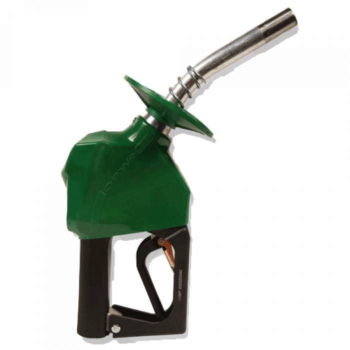 OPW 11A leaded nozzle green with splashguard - 11A-8100-1P