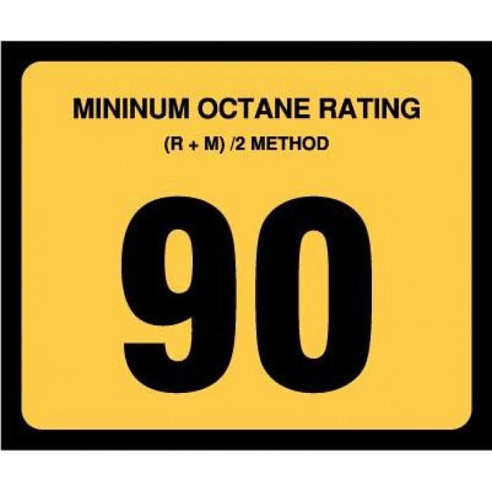 OR-90 - 90 Octane Rating Decal