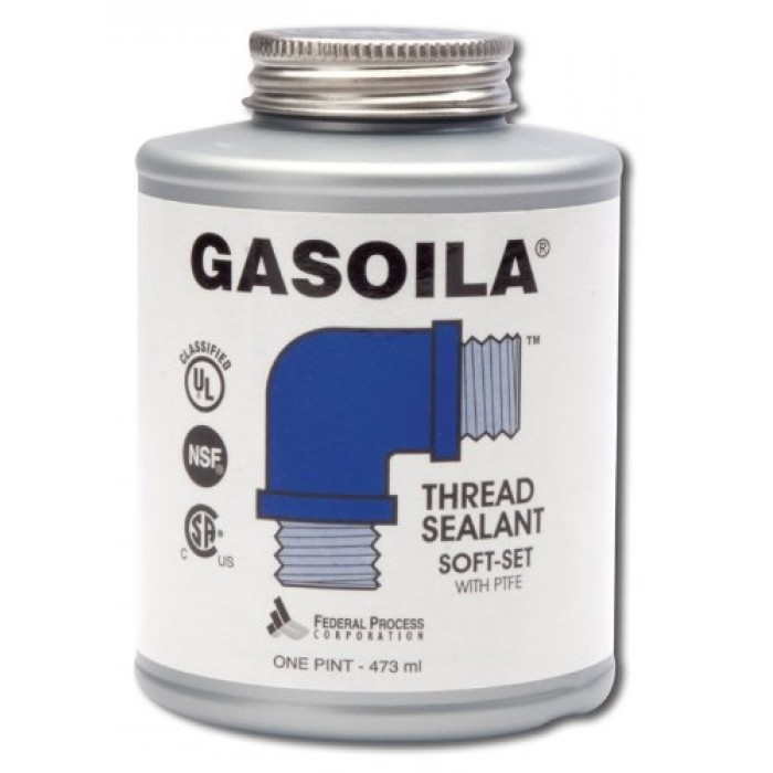 Gasoila® Soft-Set Thread Sealant with PTFE, 1 pt