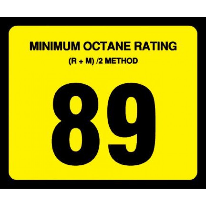 OR-89 - 89 Octane Rating Decal