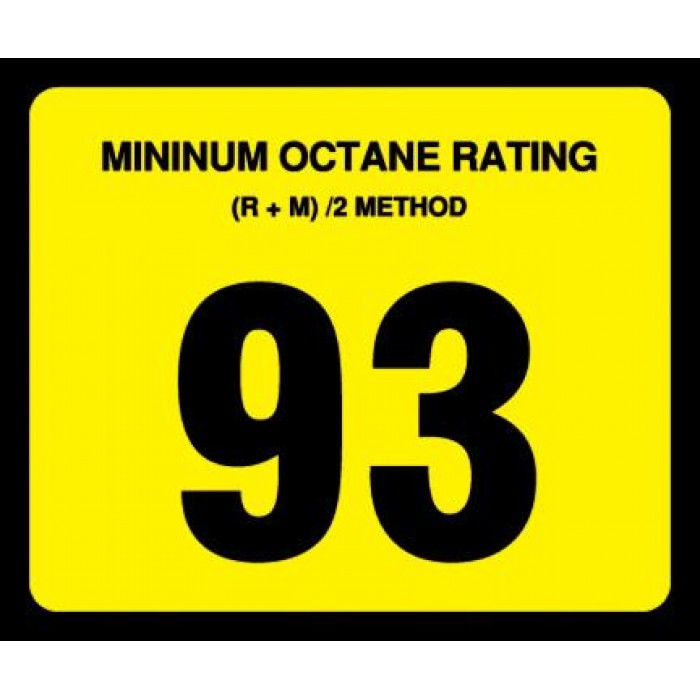 OR-93 - 93 Octane Rating Decal