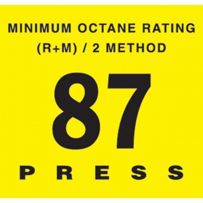 EU02001 Series - Octane Rating Button
